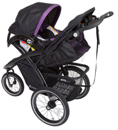 Baby Trend Expedition Premiere Jogger Travel System Wisteria Stroller With Car Seat Combo
